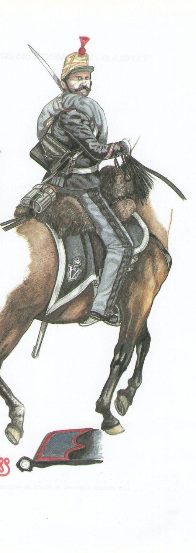 Sergente in tenuta da campagna - 1859 - Dettaglio del colletto