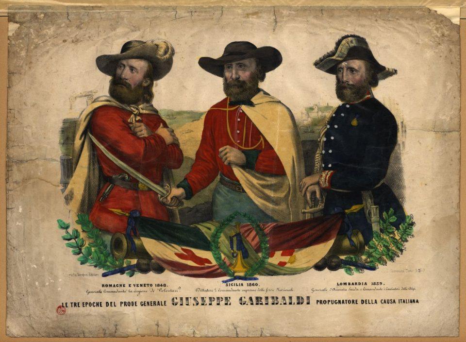 Stampa - Le tre epoche del Generale Giuseppe Garibaldi