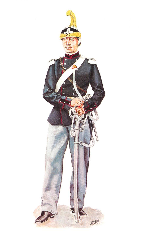 Soldato del Reggimento di Cavalleria Savoia - 1860