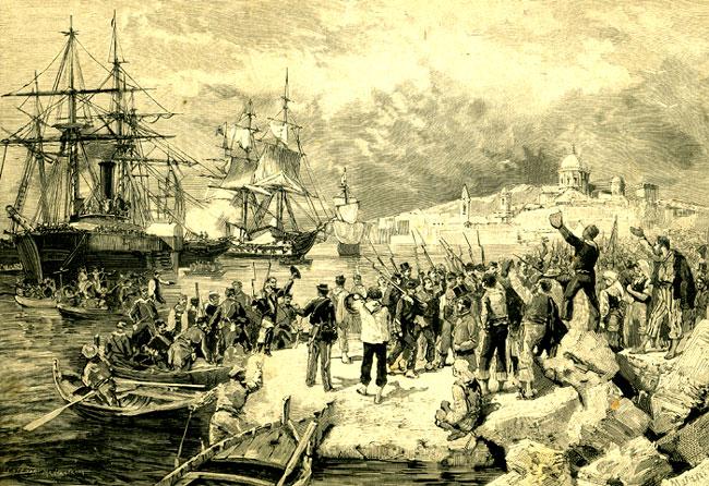 Lo sbarco dei Mille a Marsala - 12 maggio 1860
