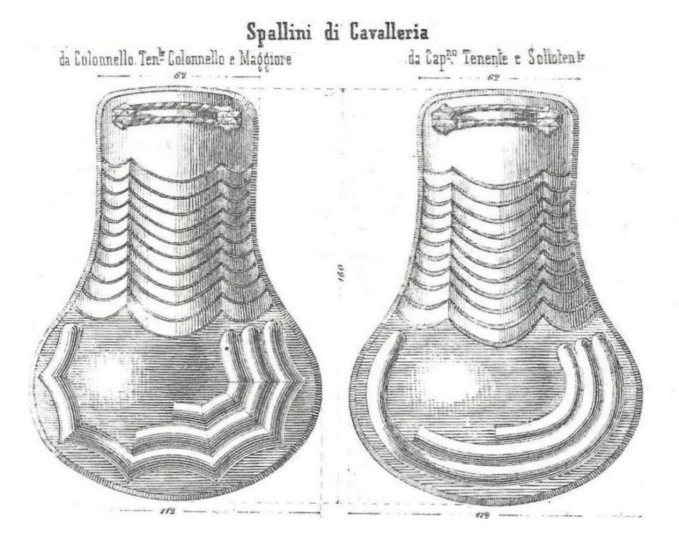 Spallini di Cavalleria - 1856