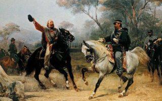 Incontro di Teano - Giuseppe Garibaldi e Vittorio Emanuele II - 26 ottobre 1860