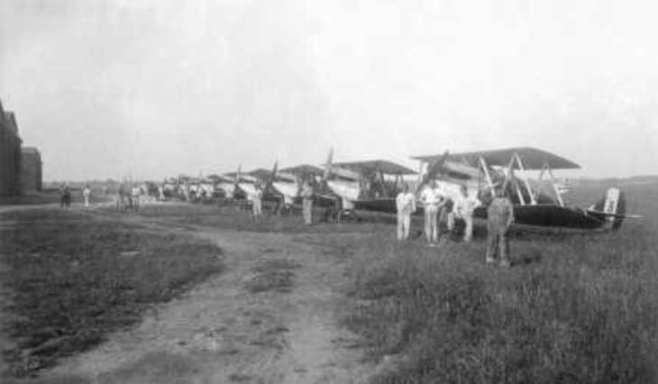 Campoformido - 1928 - Linea di volo dei C.R. 1 della 81^ Squadriglia
