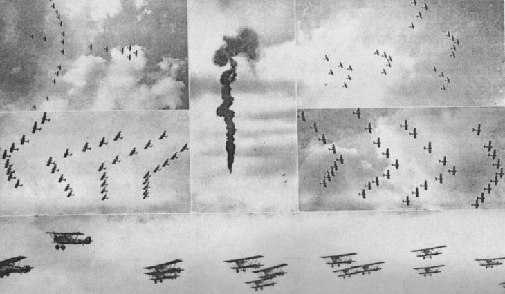 Esibizioni sul cielo di Roma durante il Giorno dell'Ala del 1930