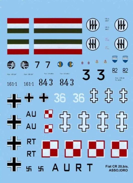 Fiat C.R.20 Bis - Choroszy Modelbud -1-72 - Cod.A76 - Decal
