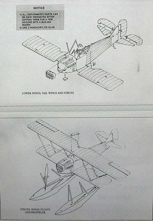Fiat C.R.20 Idro - Choroszy Modelbud - 1-72 - Cod.A78 - Istruzioni