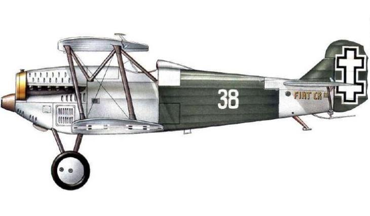 Fiat C.R.20 - 7 Eskadrile - II Aviacijos (Naikintuvu) Grupe - Kaunas - 1940