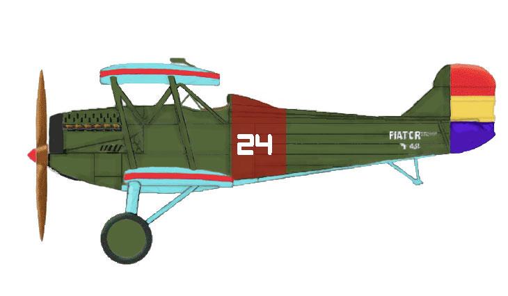 Fiat C.R.20 bis - Spagna - Fuerzas Aéreas de la República Española - Catturato nel febbraio 1938