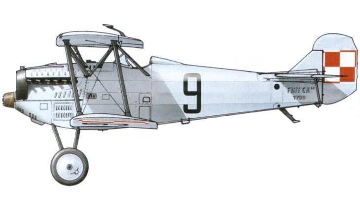 Fiat C.R.20 - Polonia - Eskadra Treningowa 2 - Cracovia - 1929