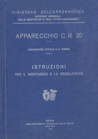 Fiat C.R.20 - 1928 - Ministero dell'Aeronautica - Manuale per il montaggio