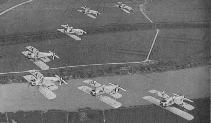 Squadriglia Folle - Giornata Aerea - Taliedo - 8 luglio 1934