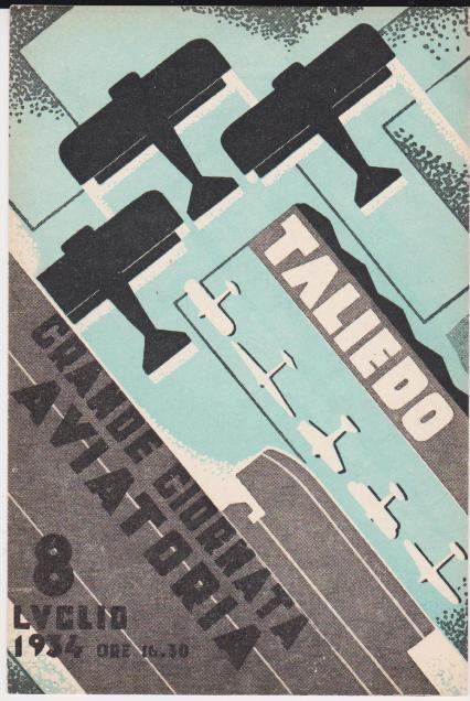 Manifesto Giornata Aerea - Taliedo - 8 luglio 1934