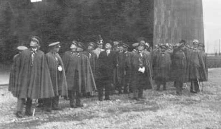 Il Principe Umberto e Italo Balbo in visita a Campoformido - 22 aprile 1929
