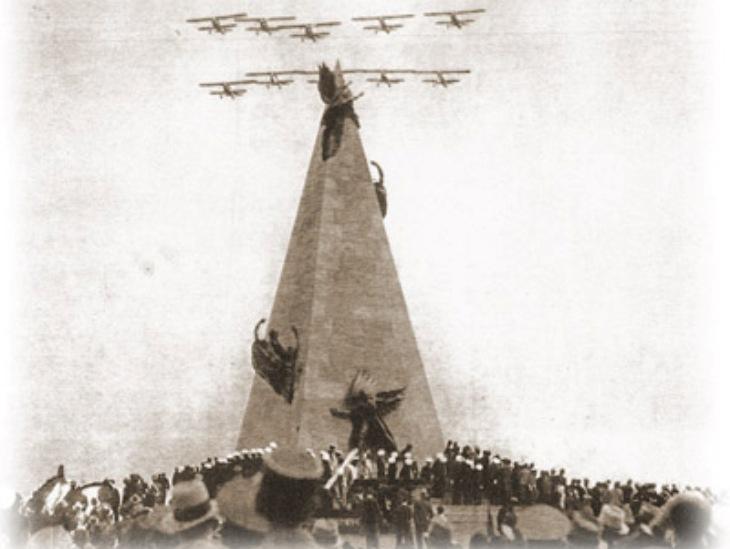 23 settembre 1937 - Pattuglia Mirafiori - Lima - Innaugurazione del monumento a Jorge Chavez Dartnell