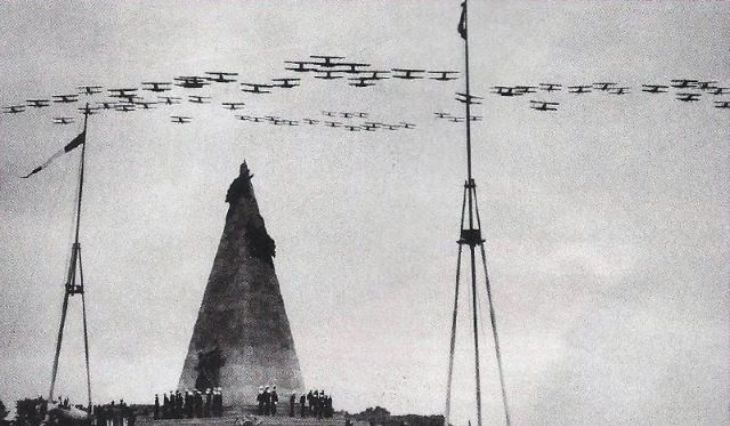 23 settembre 1937 - Lima - Inaugurazione del monumento a Jorge Chavez Dartnell