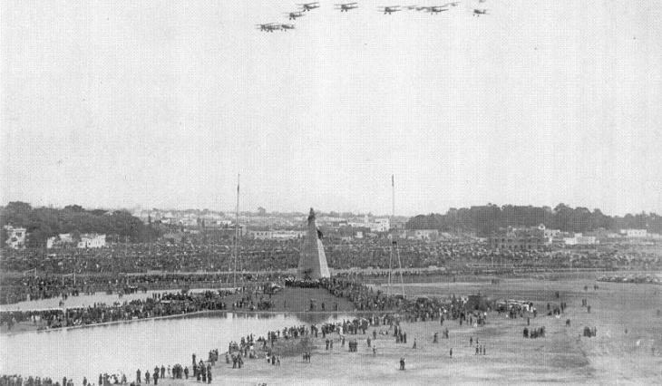 Pattuglia Mirafiori - 23 settembre 1937 - Lima - Inaugurazione del monumento a Jorge Chavez Dartnell