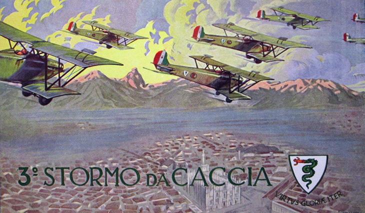 Cartolina 3° Stormo Caccia