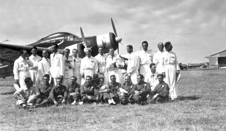 Gli equipaggi italiani degli S.79C alla corsa Istres-Damasco-Parigi