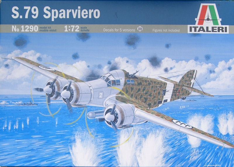 Kit Italeri N° 1290 - S.79 Sparviero - 1/72