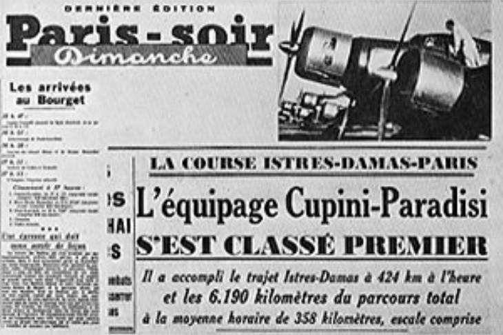 Il Paris-soir da notizia della vittoria italiana