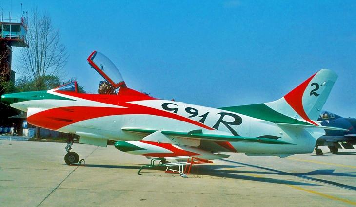 2 - Fiat G.91R - 2° Stormo - 14° Gruppo - Ultimo Volo - 9 Aprile 1992 - Treviso S. Angelo