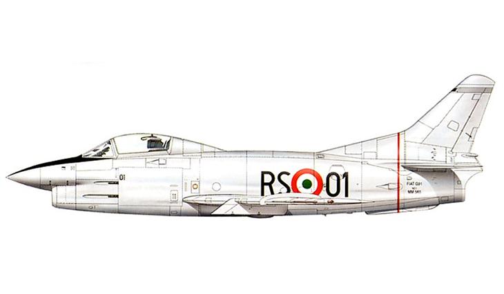Fiat G.91 Prototipo - Reparto Sperimentale Volo - 1954