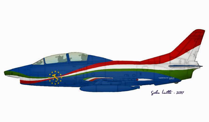 1 - Fiat G91T - 60^ Brigata Aerea - 204° Gruppo - Allargamento dell'Unione a 12 - 31° anno attività del G.91 - Messa in posizione quadro del gruppo e radiazione del velivolo - settembre 1995 - Amendola