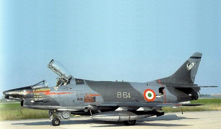 2 - Fiat G91Y - 8° Stormo - 101° Gruppo - 5000 ore di volo del Mag. L. Castelletti - Luglio 1989