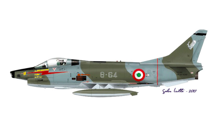 1 - Fiat G91Y - 8° Stormo - 101° Gruppo - 5000 ore di volo del Mag. L. Castelletti - Luglio 1989