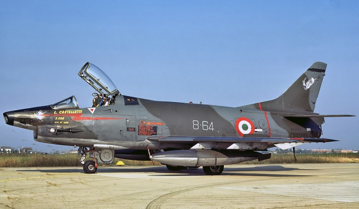 5 - Fiat G91Y - 8° Stormo - 101° Gruppo - 5000 ore di volo del Mag. L. Castelletti - Luglio 1989