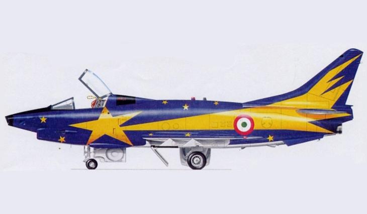 """1 - Fiat G91Y """"Cometa di Natale"""" - Dicembre 1983 - Gennaio 1984 - 8° Stormo - 101° Gruppo CBR – Cervia"""