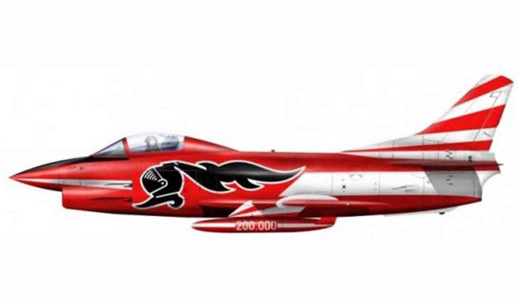 1 - Fiat G-91R/1 - 2° Stormo - 14° Gruppo CBR - 200000 ore - 1987