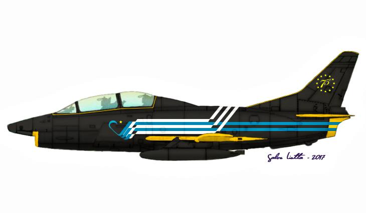 1 - Fiat G.91T/1 - 75 anni Aeronautica Militare Italiana - 1998 - Lungomare di Bari