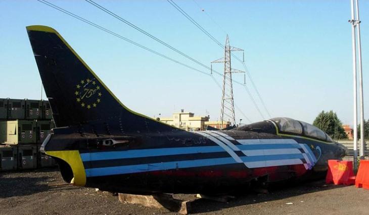 16 - Fiat G.91T/1 - 75 anni Aeronautica Militare Italiana - Presso un demolitore di Roma