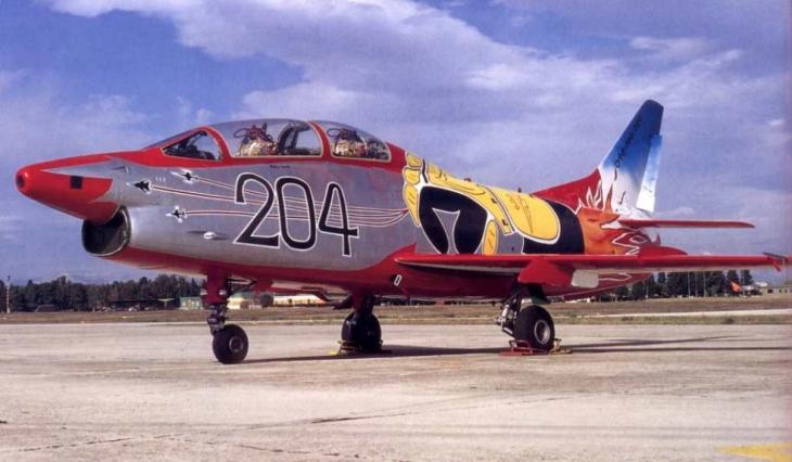 10 - Fiat G.91T/1 - 60^ Brigata Aerea - 204° Gruppo - Ultimo volo - 30 settembre 1995 - Amendola