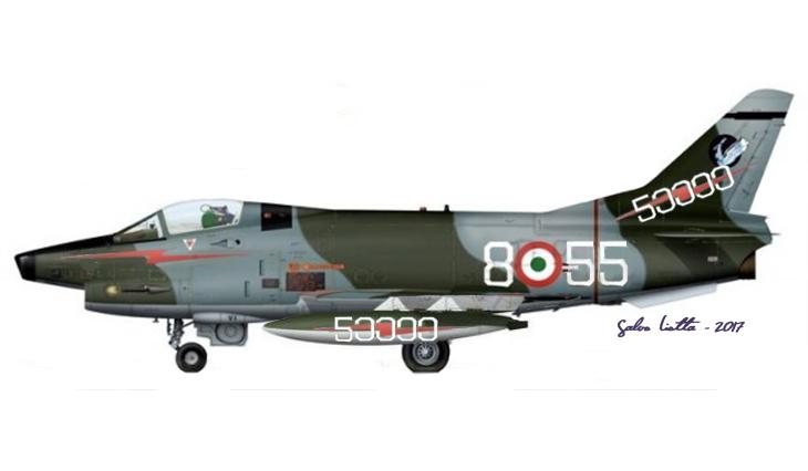1 - G.91Y - 8° Stormo - 101° Gruppo CBR - 50000 ore - 1984