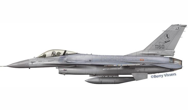 General Dynamics F-16 Fighting Falcon - 37° Stormo - 10° Gruppo - 91^ Squadriglia - Trapani Birgi - 2005