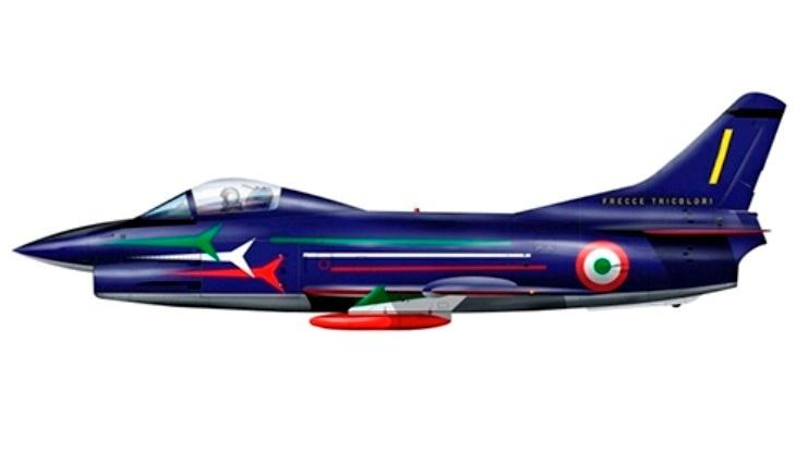 """Fiat G.91R - 313° Gruppo addestramento acrobatico """"Frecce Tricolori"""" - Rivolto - 1981"""