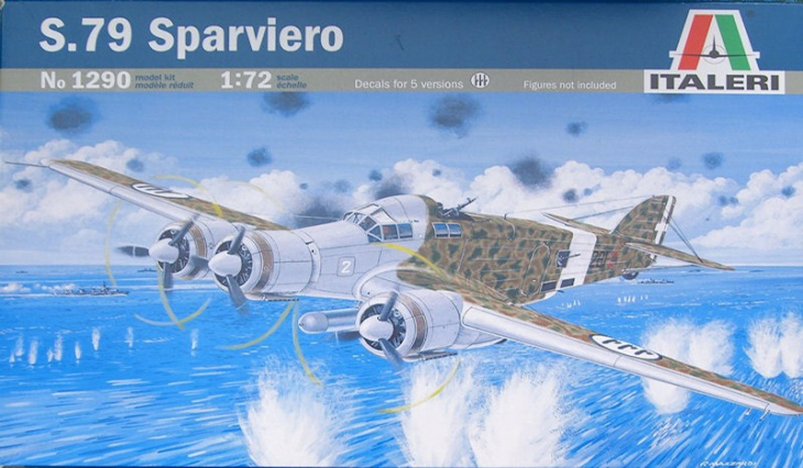 Kit Italeri del Savoia Marchetti S.79 Sparviero - 1/72