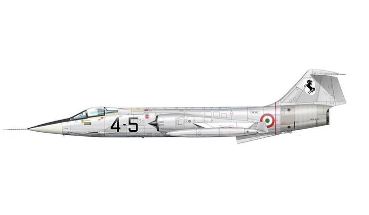 Lockheed F-104 Starfighter 4° Stormo - 10° Gruppo - 91^ Squadriglia - Pratica di Mare - 1963