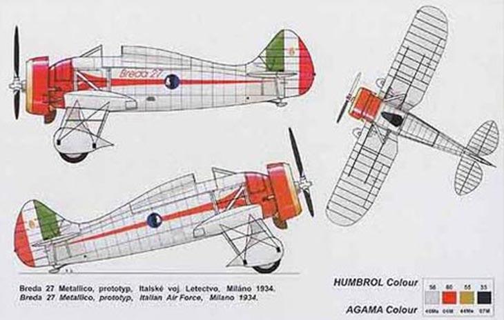AZ-Models in 1/72 -Breda 27 M - Prototipo