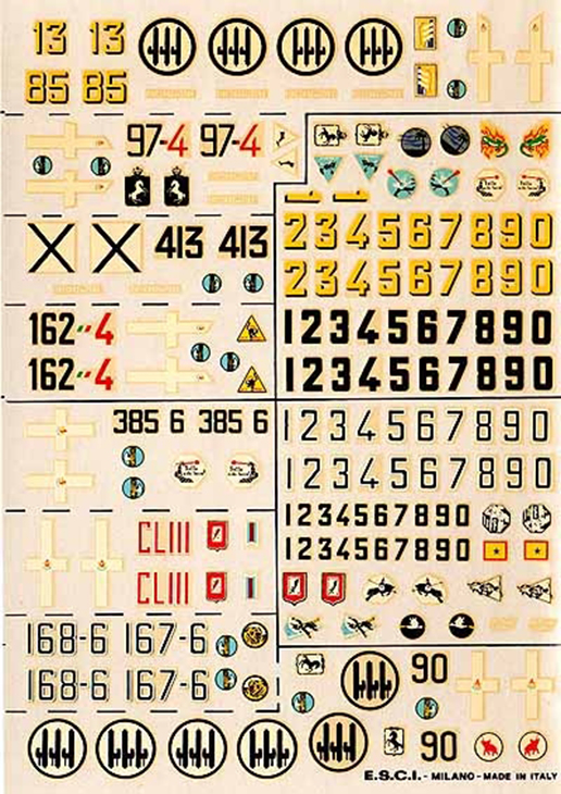 Decals ESCI - Fiat Cr.42