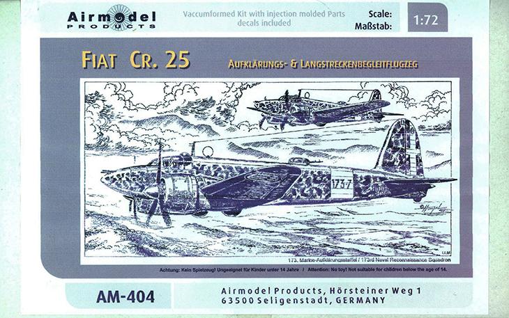 Fiat Cr.25bis – Airmodel – Cod. AM 404 – Scala 1/72 – Vacuformed con parti ad iniezione