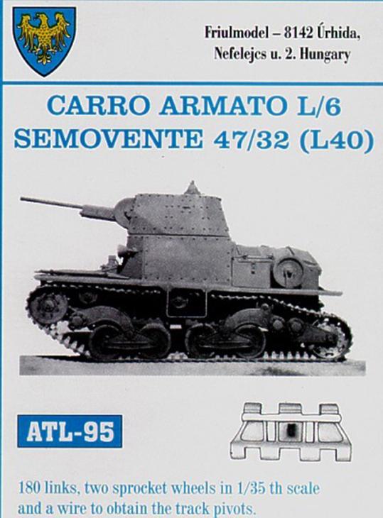 riulmodel Carro armato L/6 – Semovente 47/32 (L40) – Cod. ATL-95