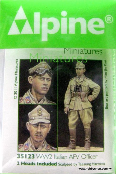 WWII Italian AFV Officer – Resina – 1/35 – Alpine Miniatures – Cod.35123