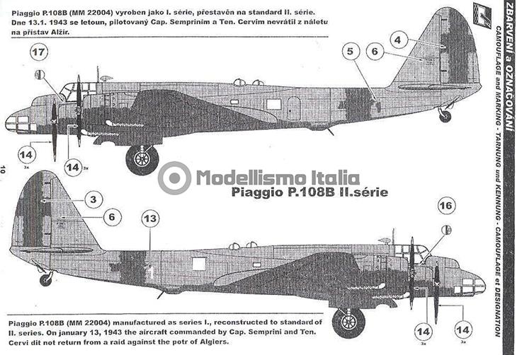 Piaggio P.108B serie II dal Kit Special Hobby, scala 1/72