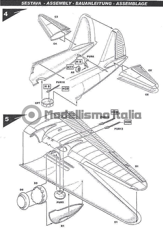 Piaggio P.108B serie II dal Kit Special Hobby, scala 1/72