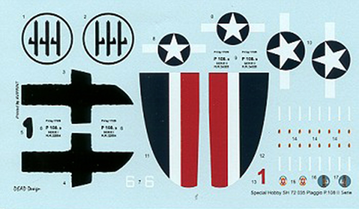 Special Hobby – Piaggio P.108b serie II – N. SH72035 – Scala 1:72 - Decals