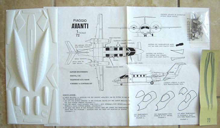 Piaggio P-180 Avanti - Kit Sanger - 1/72