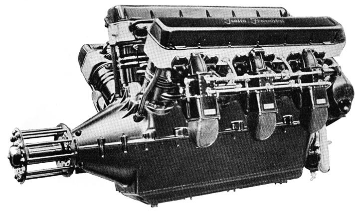 Motore Fraschini ASSO 750 da 900-930 CV a 1 900 giri/min
